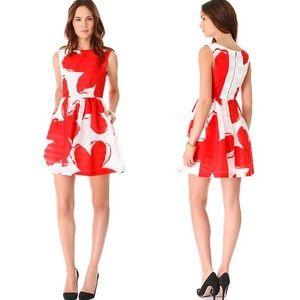 Alice + Olivia   Essie Printed Taffeta Dress